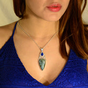 Faceted Kyanite & Labradorite Custom Silver Pendant