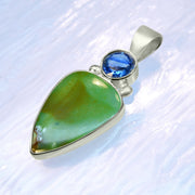 Faceted Blue Kyanite & Gem Silica Pendant