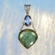 Faceted Kyanite & Labradorite Silver Pendant