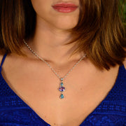 Faceted Aquamarine, Amethyst & Apatite Necklace