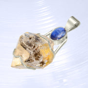 Blue Kyanite & Herkimer Diamond Crystal Pendant