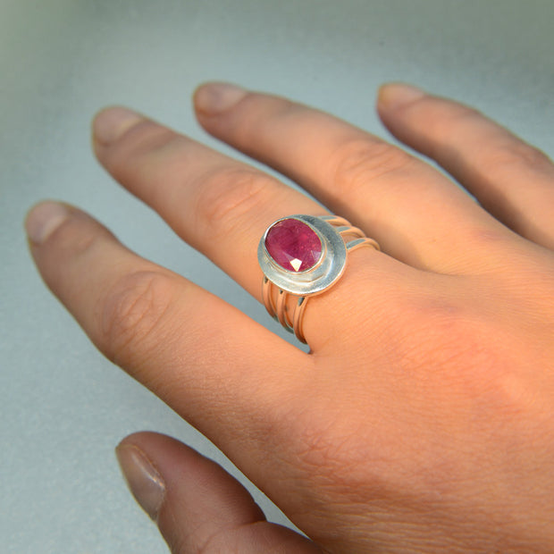 Sparkling Ruby Ring Size 7
