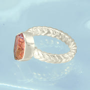Pink Tourmaline Crystal Ring Size 8 1/2