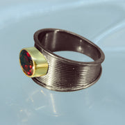 Beautiful Red Garnet Ring Size 9