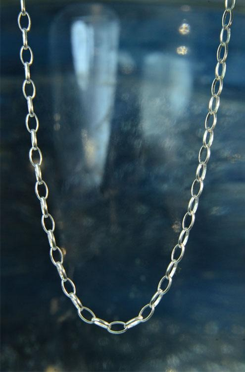 "Adjustable Sterling Silver 16"" 17"" 18"" Chain"