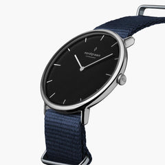 Native - BUNDLE Black Dial Silver | Silver Mesh / Navy Nylon / Black Leather Strap