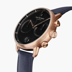 Pioneer - BUNDLE Black Dial Rose Gold | Brown Leather / Black Leather / Navy Leather Strap
