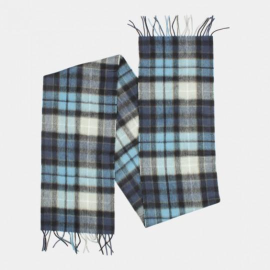 BARBOUR SCARF TARTAN NEW CHECK BLACK / BLUE