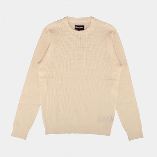 BARBOUR SWEATSHIRT FJORD ECRU