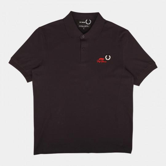 FRED PERRY X RAF SIMONS SLIM FIT POLO NAVY