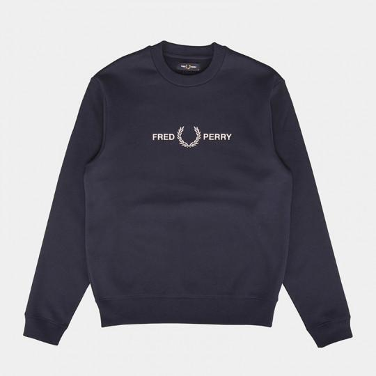FRED PERRY SWEATSHIRT GRAPHIC CARBON BLUE