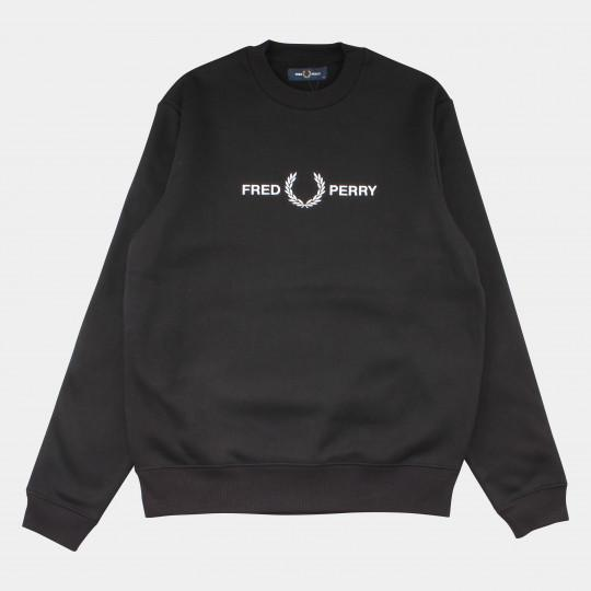 FRED PERRY SWEATSHIRT GRAPHIC BLACK