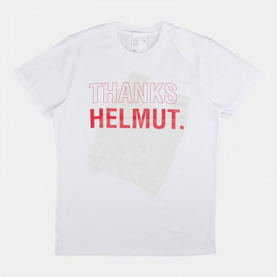 HELMUT LANG T-SHIRT STANDARD THANKS CHALK WHITE