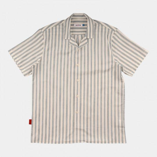 LE FIX SHIRT SS STRIPE BLUE/OFF WHITE