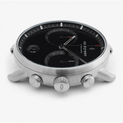 Pioneer - BUNDLE Black Dial Silver | Silver Mesh / Olive Green Nylon / Black Leather Strap