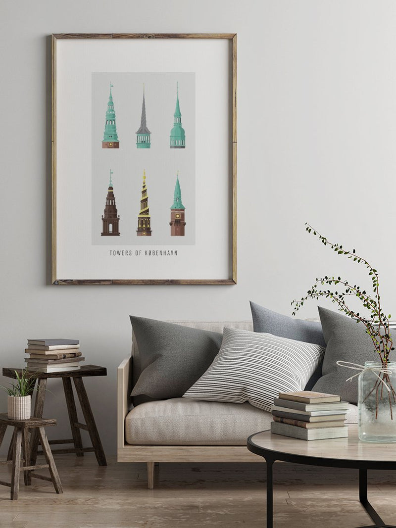 6 Towers of Copenhagen - Poster