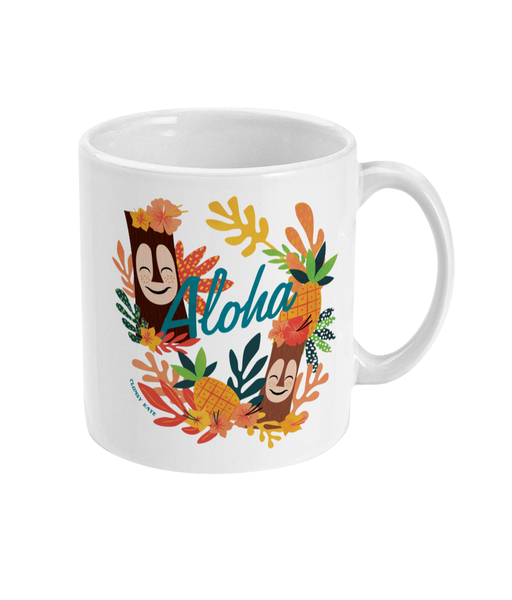 Aloha Tiki Bob Ceramic Mug 11oz by Clumsy Kate