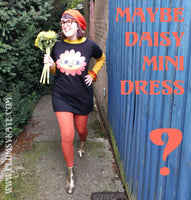 Maybe Daisy Happy Face Mini Dress in Black by Clumsy Kate