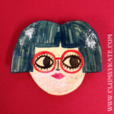 Retro Bob Girl Ceramic Trinket Dish Handmade by Clumsy Kate