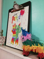 Let's Party Cactus and Pinata Print by Clumsy Kate