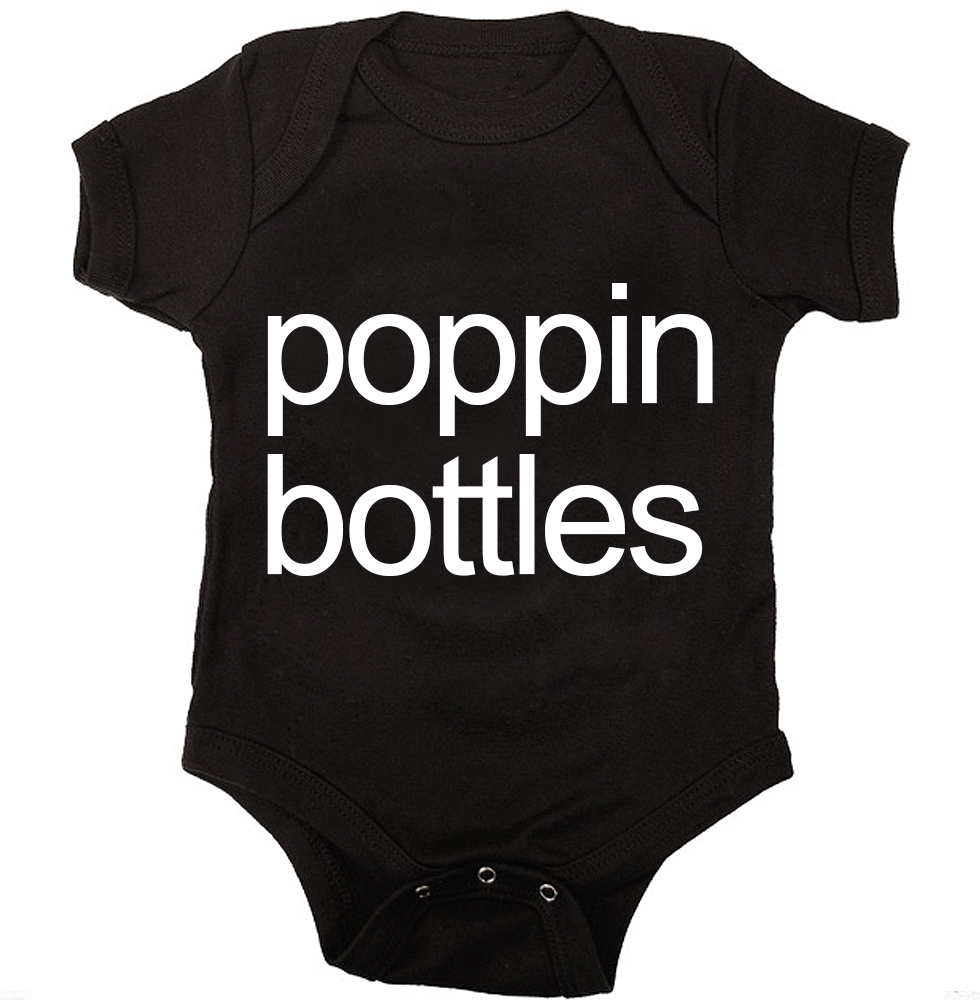 Cute Baby Onesie Clothes Poppin Bottles