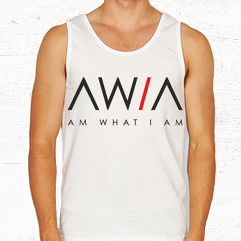 19.50  AWIA White Tee or Tank