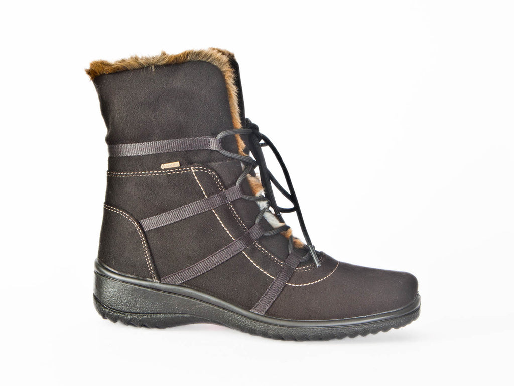 Goretex boot with fur trim waterproof and warm