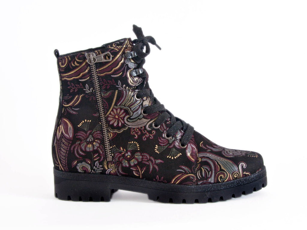 Paisley Patterned boot with chunky sole