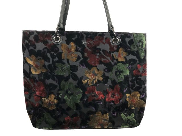 Handbag in flock floral to match boots or shoes