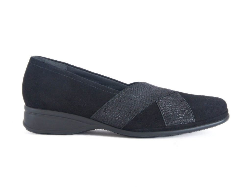 LOAFER WITH ELASTIC X OVER
