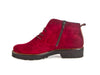 Brogue style wine red suede ankle boot