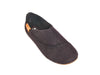 Slipper with back in and strap-BLACK