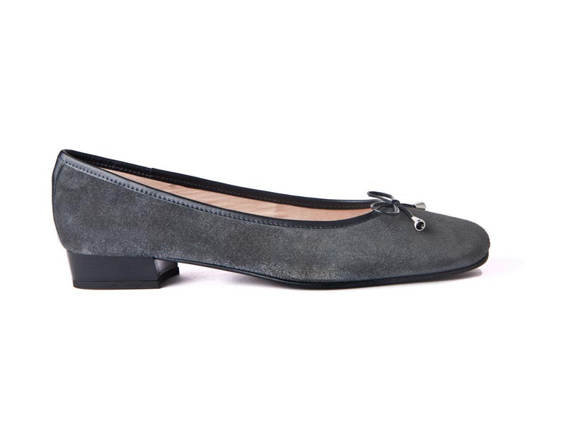 Italian suede pump-GREY