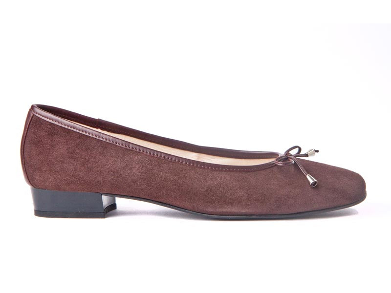 Italian suede pump-BROWN