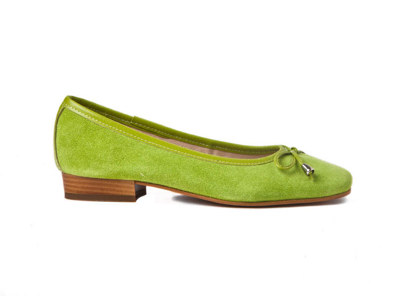 Italian suede pump-LIME GREEN
