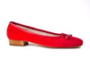 Italian suede pump-RED