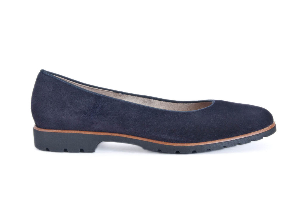 suede leather pump with rubber non slip sole-NAVY BLUE