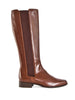 Long Leather boot in soft Italian leather
