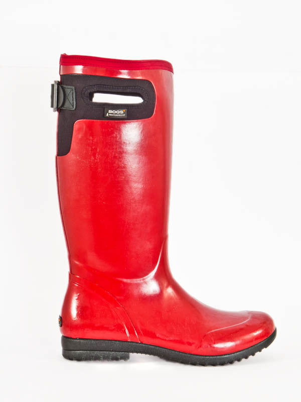 Bogs bright red wellington boot