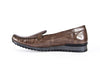 Patent mottled loafer