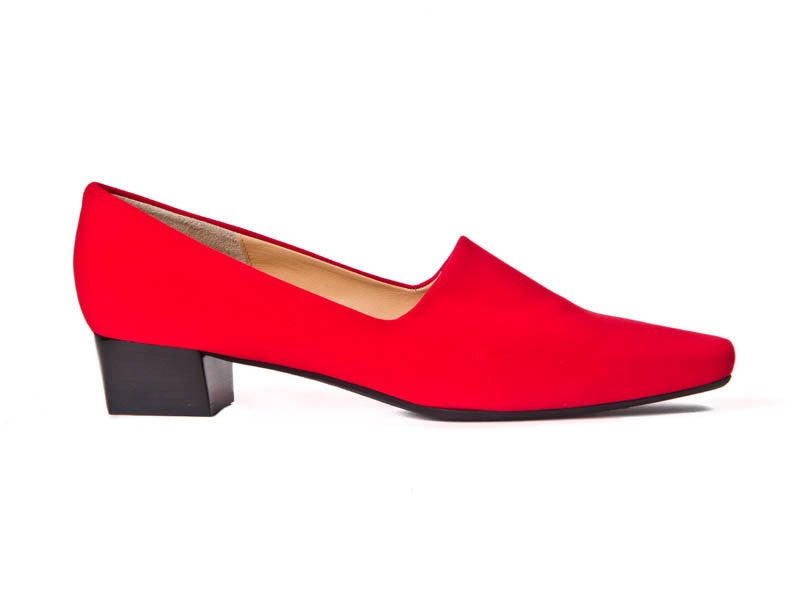 Nicole red fabric loafer