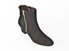 Nubuck zip ankle boot