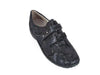 ladies loafer wide fitting black patent removable insole comfortable large shoe sizes