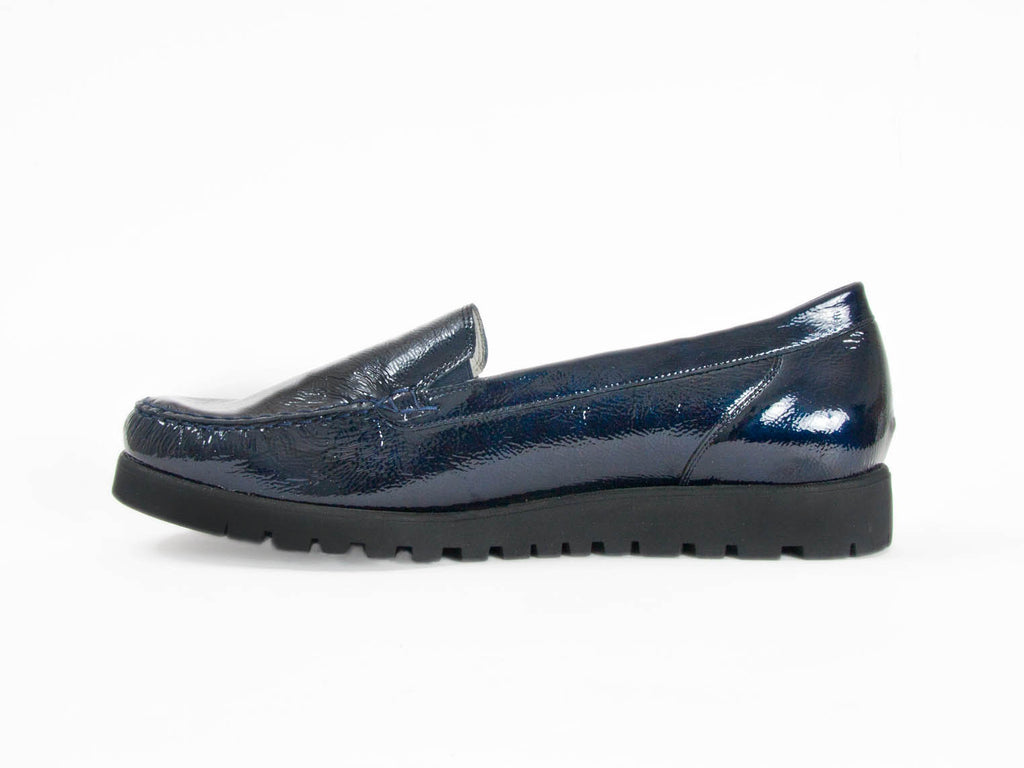 6a21fb138b1 Ellie Dickins Shoes - Chunky sole navy patent leather loafer - Ellie ...