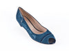 Peep toe court in nubuck
