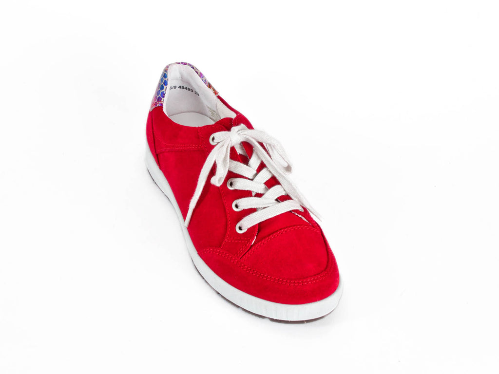 4064dcccf64 Ellie Dickins Shoes - Women s red nubuck leather lace-up - up to UK9 ...