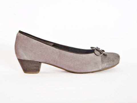 Ara suede with patent leather toe court