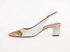 Slingback with feature contrast toe