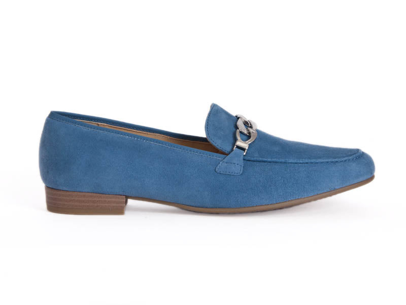Ara High Soft pale blue suede loafer