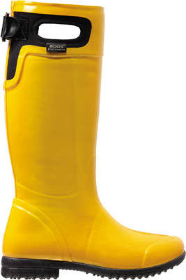 Sunshine yellow women's wellington boot - up to UK size 10